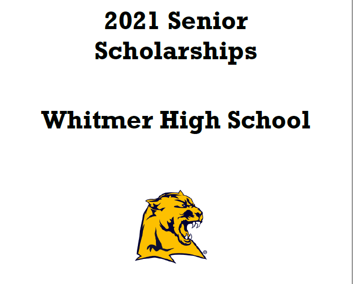 Whitmer High School 2021 Senior Scholarships