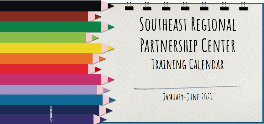 Southeast RPC Training Calendar for January through June of 2021.