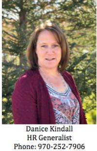 Danice Kindall, HR Generalist, Phone: 970-252-7906