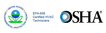 EPA logo and OSHA logo