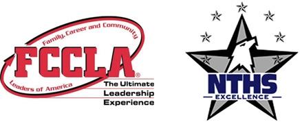 FCCLA logo and NTHS logo