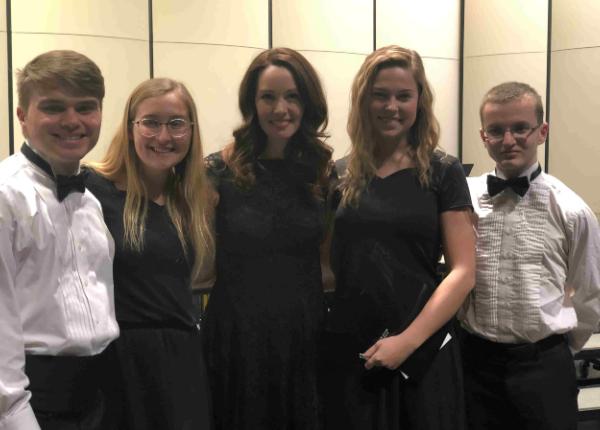 Taylor Bookman, Jailyun Adcock, Sam Schmelzer, Ben Johns, and Elaine Hagenberg
