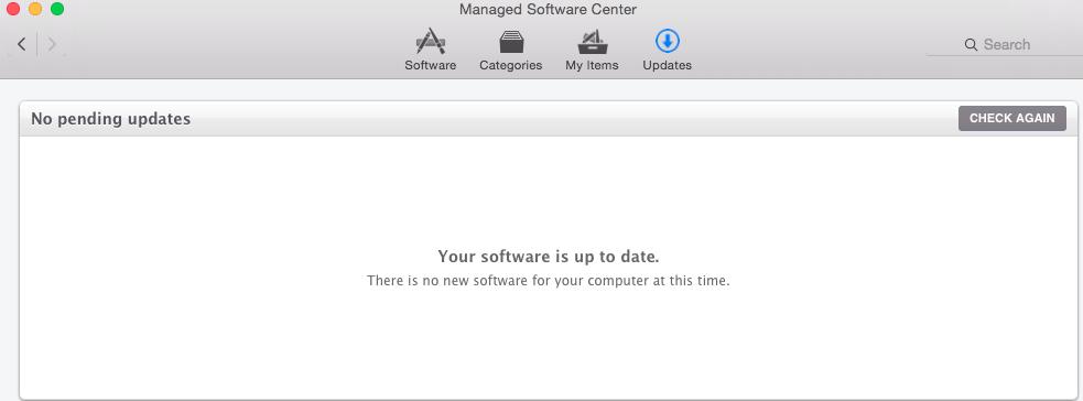 Managed Software Center Screenshot