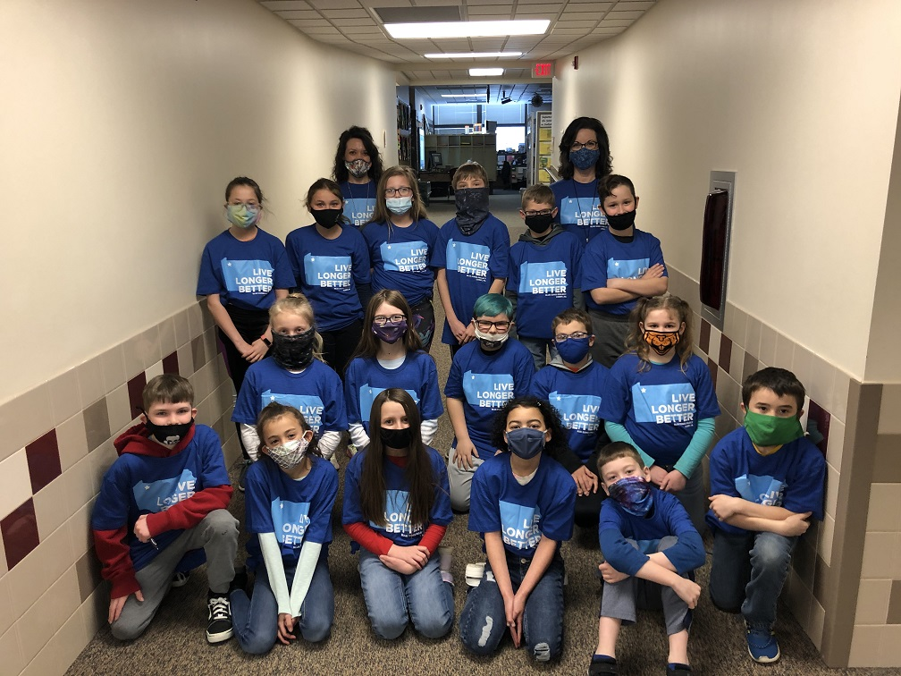 Mrs. Powell's 4th-grade Beaver Blue Crew.