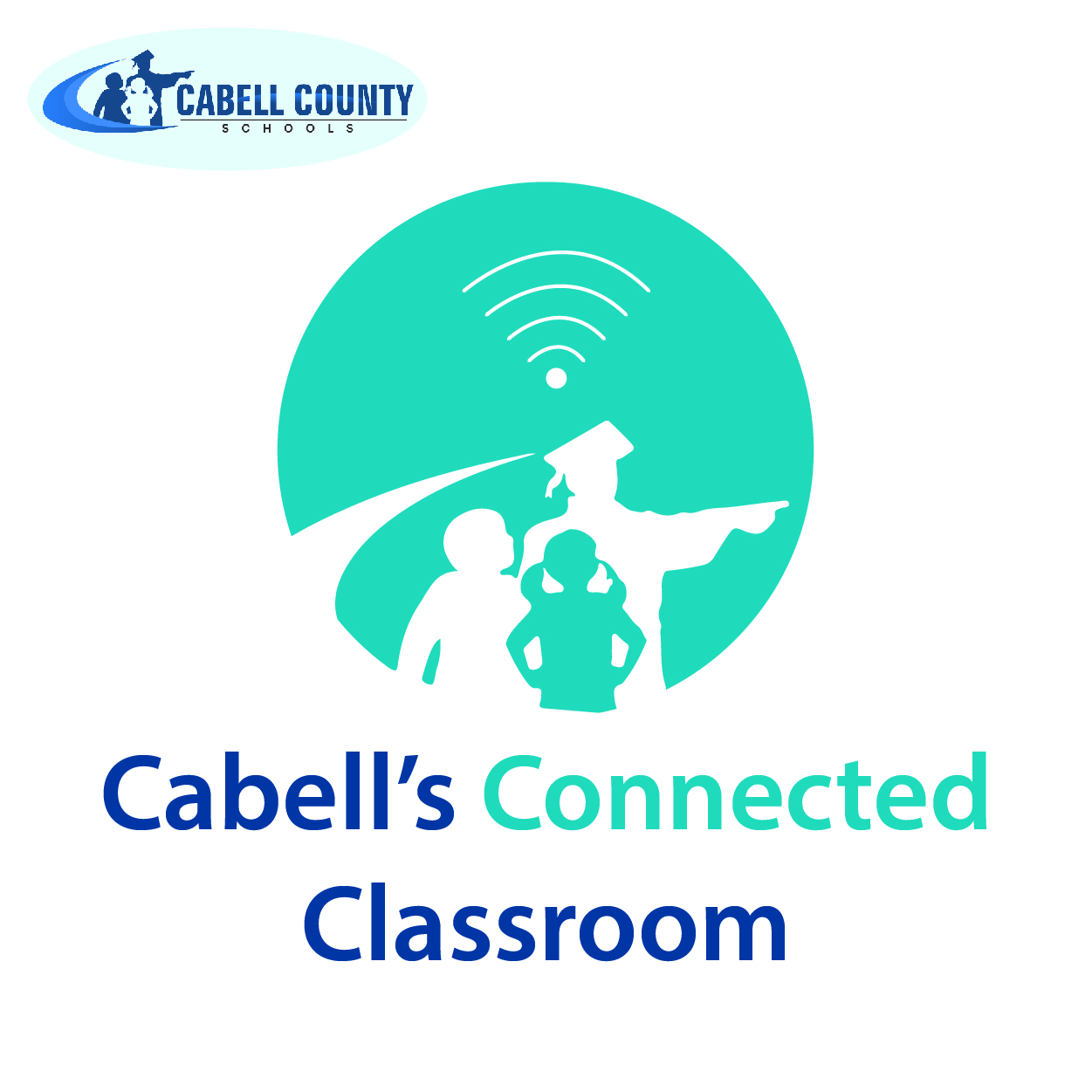 Connected classroom graphic