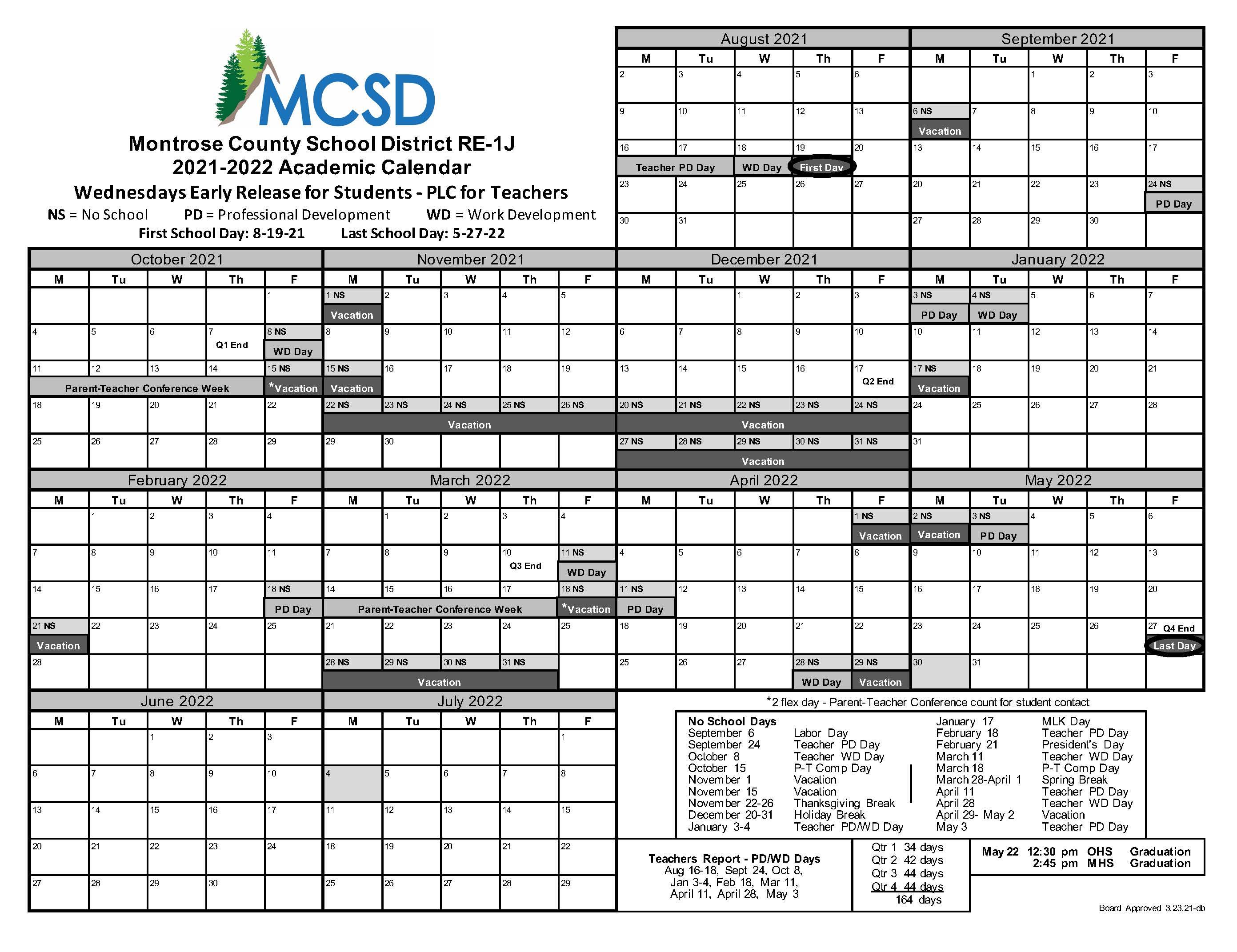 Cms Calendar 2022 2023.2021 2022 School Year Calendar