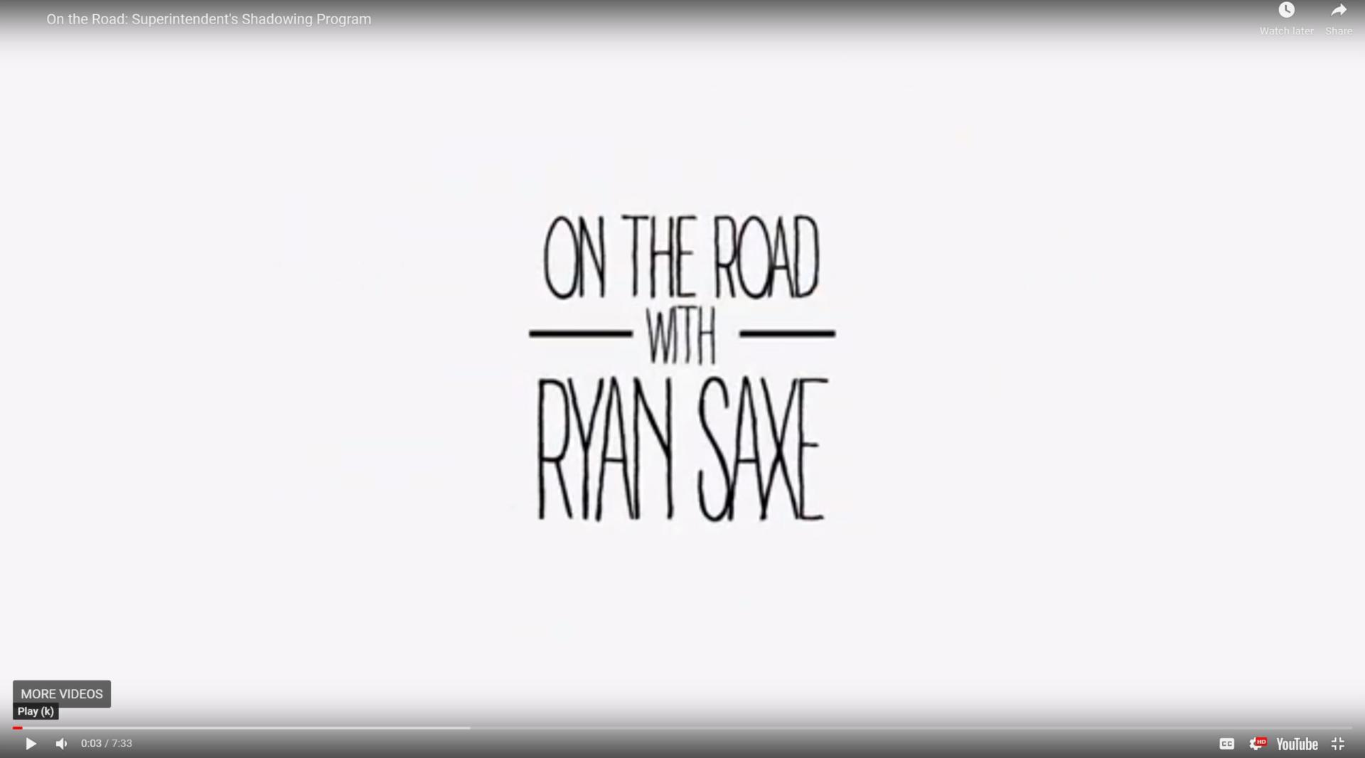 Link to On The Road Video Series