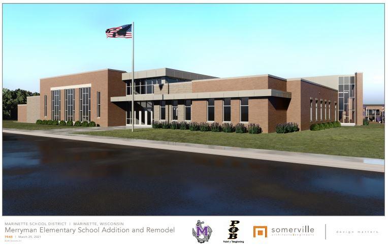 Photo of Marinette Primary School Exterior Rendering