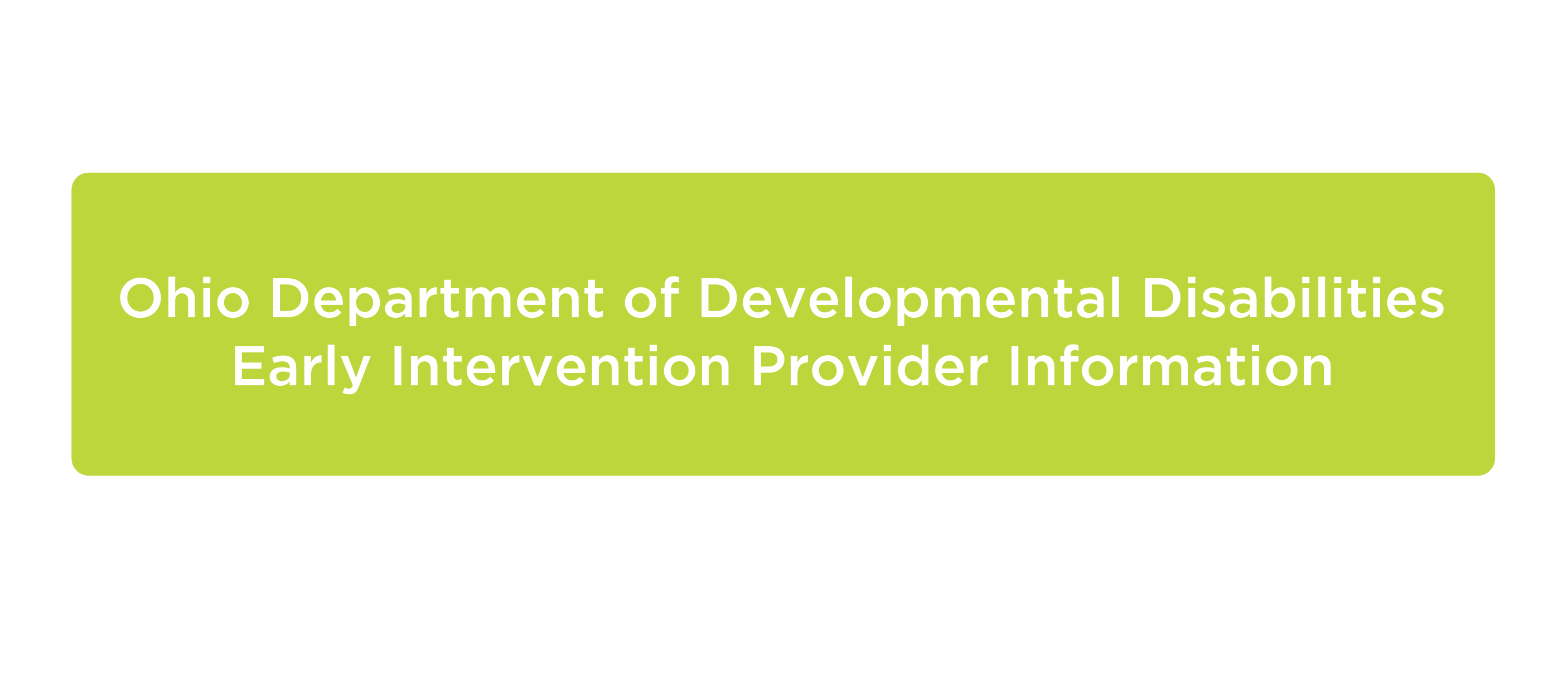 Department of Developmental Disabilities provider information