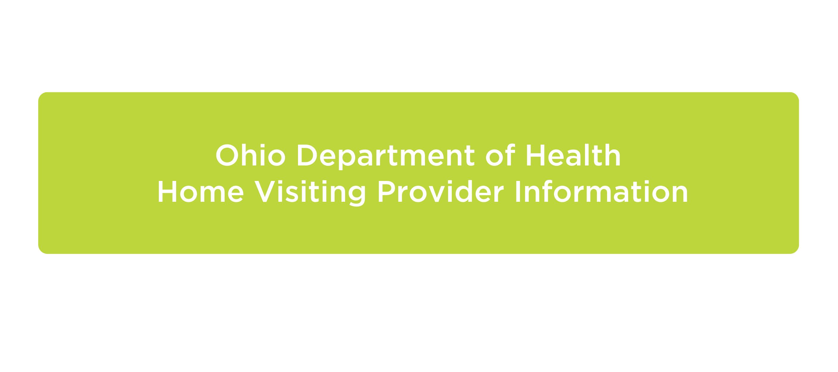 Ohio Department of Health provider information