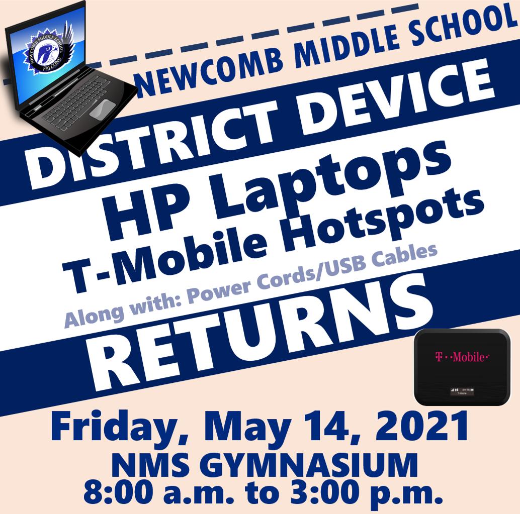 District Device Returns Notice 2021