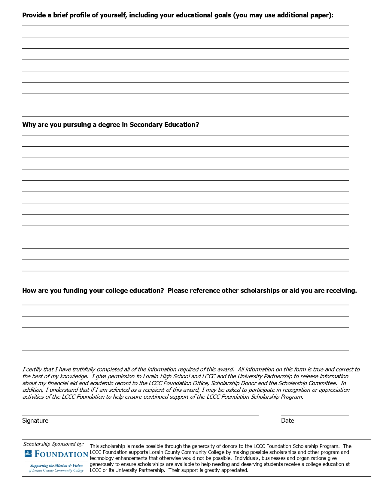 It is an image of Printable Scholarship Applications intended for sample non profit scholarship application