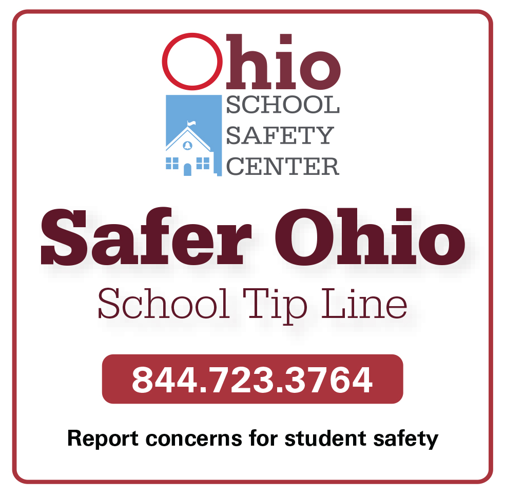 Ohio Tip Line: Call or Text 844-723-3764