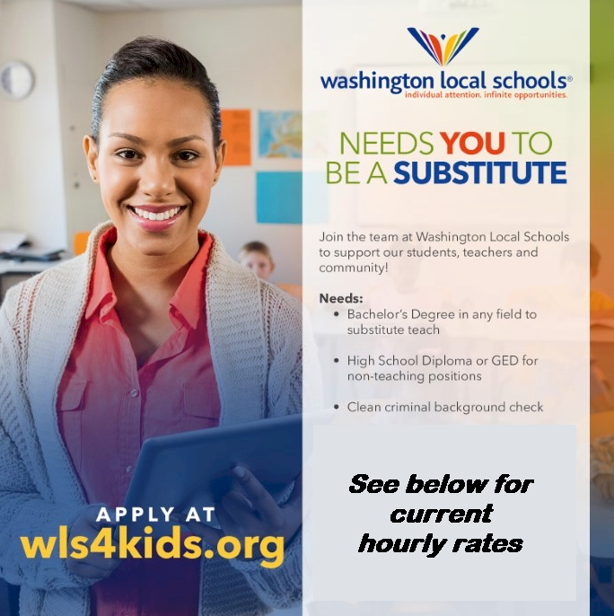 Substitute Information Banner - Rates Below