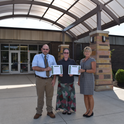 Kelly Leffler & Connie Altier recieving AEP Reward