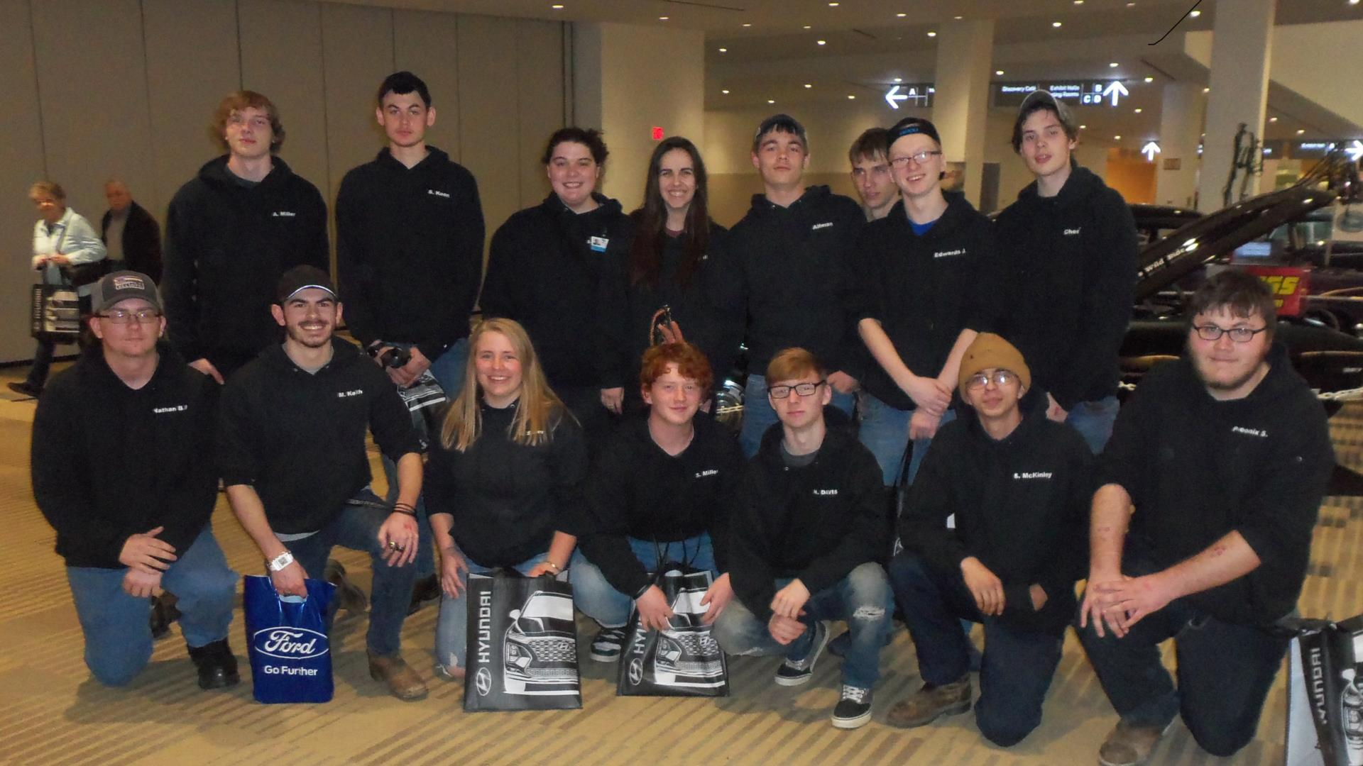 Auto Tech Students at Auto Show
