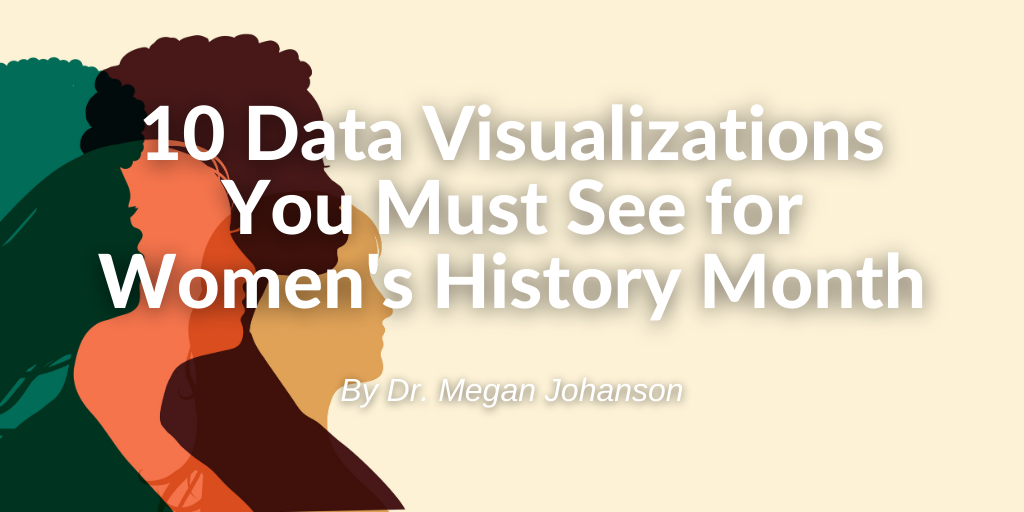 "Image showing blog title ""10 Visualizations You Must See for Women's History Month"" by Dr. Megan Johanson"