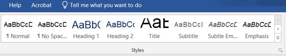 Using Styles in Microsoft Word
