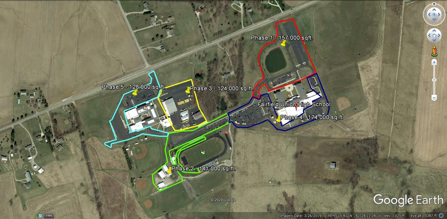 Parking lot phasing plan