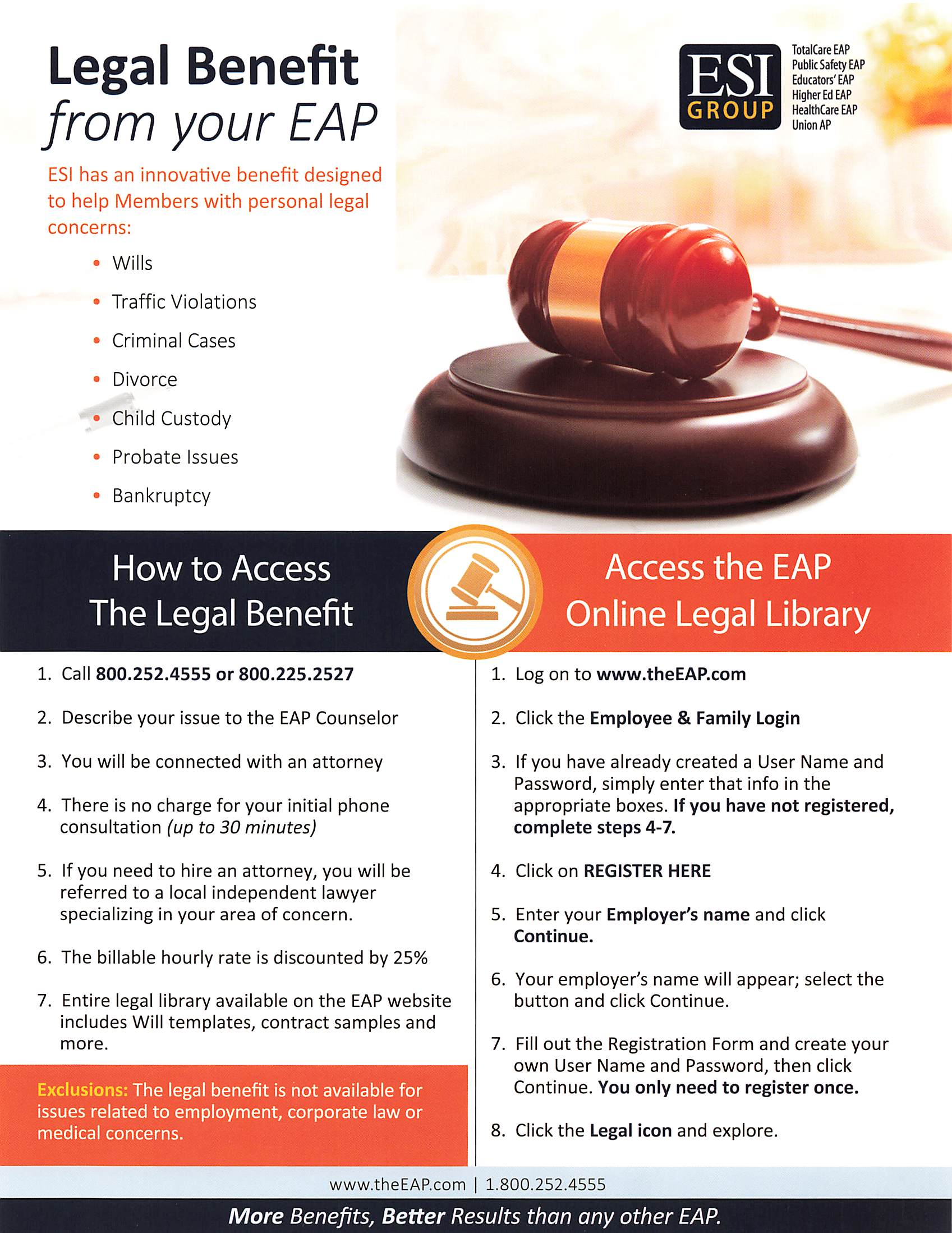 Legal Benefit available from EAP